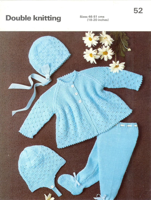 Knitting Patterns Phildar : Baby Knitting Pattern Phildar 52 DK Pram Set 18-20ins 8ply