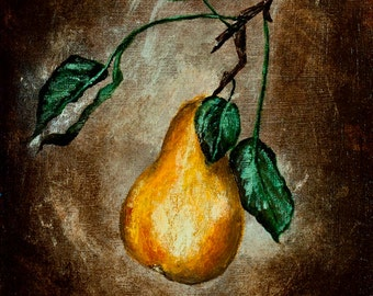 Golden Bosc - Acrylic Painting on Canvas Panel