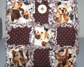 Darling Doggy Face Rag Bag/Purse/tote