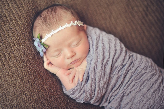 Newborn Headband, Blessing Headband, Ivory Headband, Baby Headband, Baby Bow, Baby Girl Headband, Adjustable Headband, Pink Headband,