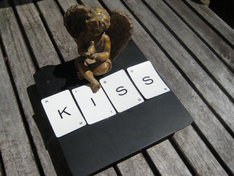 KISS Vintage alphabet cards