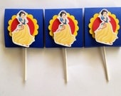 Snow White lollipop candy favors (set of 12)