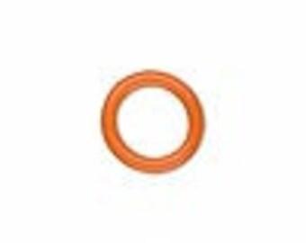 O Ring rubber ring, Orange, 6.4 mm inside diameter.  Pack of 275