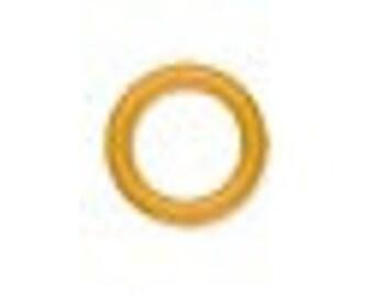 O Ring rubber ring, Dark Yellow, 8 mm inside diameter.  Pack of 200