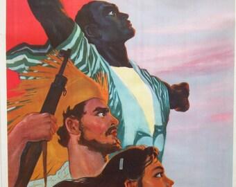 Original vintage Chinese propaganda poster