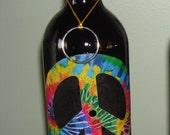 Peace Sign - Bottle Incense Burner
