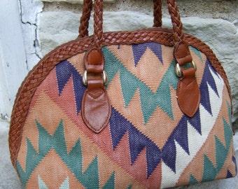 Wonderful Vintage Kiiim Style Handbag in Autumn Colors