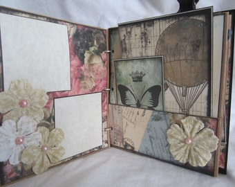 "Junk Journal 6.5"" x 8"", Photo Album by Island Lilly Designs"