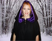LADY BELLADONNA CLOAK - Wool and Faux Fur Double Insulated