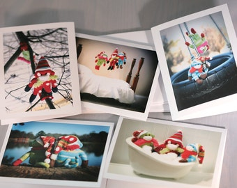 Sock Monkeys Photography Assorted Blank Notecard Set of 5