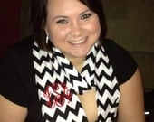 Monogrammed Cotton Chevron Infinity Scarf..Discounts available for quantities for 5 or more