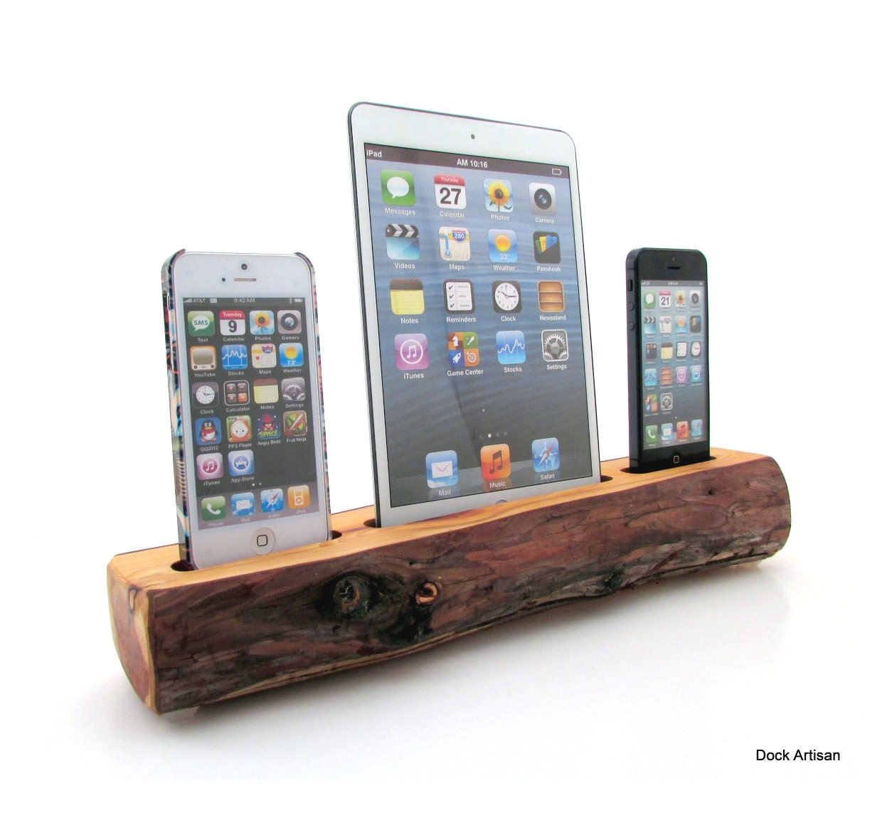 ipad mini and dual iphone 5 redwood docking station. Black Bedroom Furniture Sets. Home Design Ideas