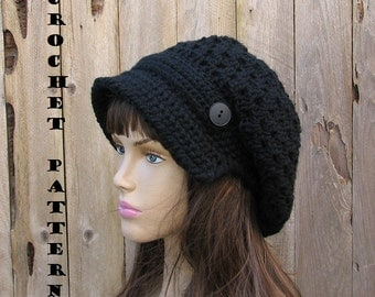 Crochet pattern, Newsboy Hat Pattern - Crochet Pattern PDF,  Pattern No. 37