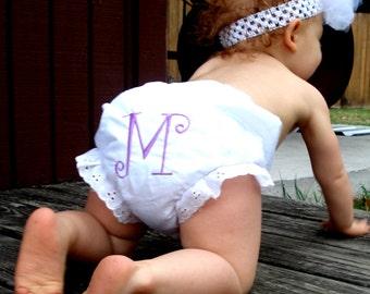 custom monogram white diaper cover panties baby infant sizes