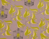 HUGE SALE- Fabric-Birdcage Quiet in Lilac by Tina Givens for FreeSpirit Fabrics 1 yard