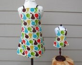Matching Daughter Doll Aprons SALE  - Retro Apron Print Made to Match Set