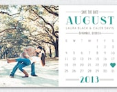Save the Date Photo Postcard - With Calendar (or 5x7)