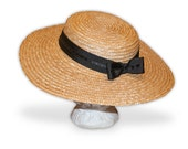 Trimmed Young Woman's Child's  Victorian / Civil War Straw Hat 1850's-1860's