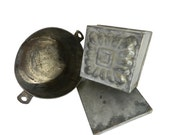 Antique French Terrines & Baking Moulds Set of 2