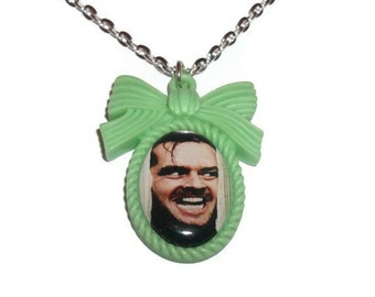 Green Cameo Necklace, The Shining, Here's Johnny Horror Movie