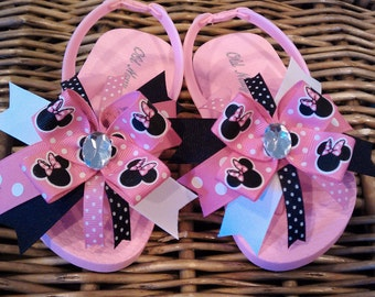 Minnie Mouse Pink Polka Dot Flip Flop Sandals