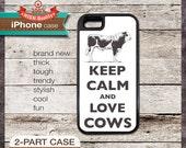 Keep Calm And Love Cows - iPhone 6, 6+, 5 5S, 5C, 4 4S, Samsung Galaxy S3, S4