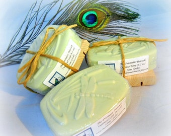lime cooler scented oatmeal bar soap green