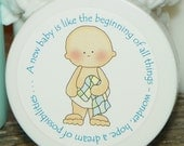 Baby Shower Favors - Personalized Whipped Body Butter (Baby Boy with Patchwork Blanket)