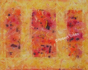 Orange Abstract Art, Yellow, Colorful Art, Wall Decor, Geometric, Original Abstract Painting