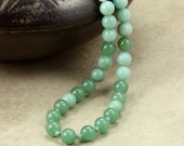 Aventurine and Amazonite Necklace, Strand Necklace, Blue Necklace, Green Necklace