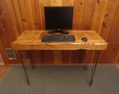 "Old Growth Desk with Hairpin Legs - 4 inch thick top 30"" x 48"" x 30"""