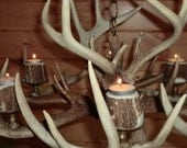 Non Electric Antler chandelier, tea cup candles, or regular candles, 6 lights, very cool