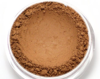 "Warm Matte Brown Eyeshadow - ""Rosewood"" - Vegan Mineral Eyeshadow Net Wt 2g Mineral Makeup"