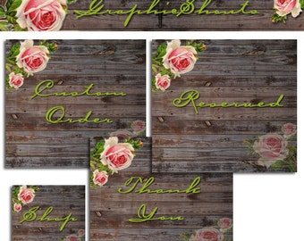 Banner Set - Banners and Avatars - Boutique Rose Wood cover banner