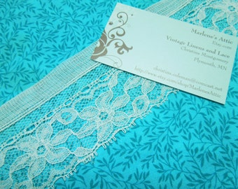 SALE 1 yard of 1 1/2 inch White Chantilly lace trim, raschel lace for bridal, baby, garters, sewing, crafts by MarlenesAttic - Item F7