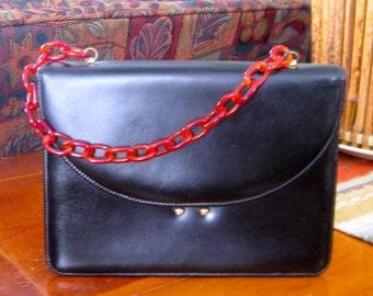 Etra Tortoise Link Strap Leather Handbag