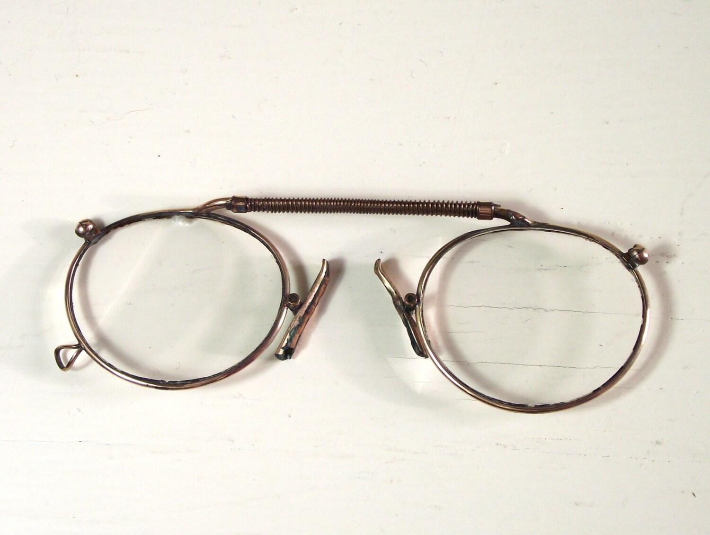 antique pince nez reading glasses by vintageandloved