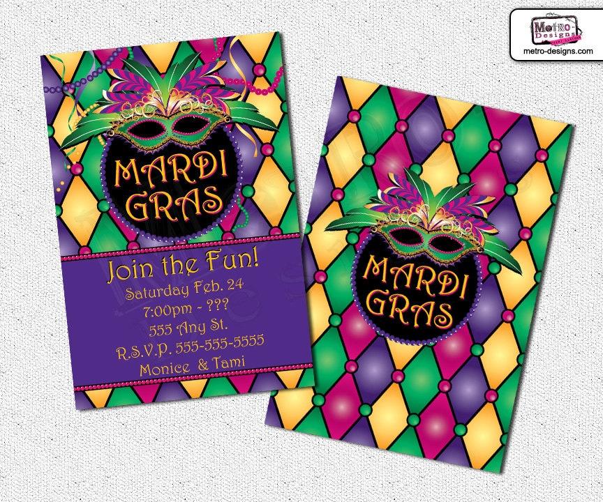 Mardi gras invite – Mardi Gras Birthday Invitations
