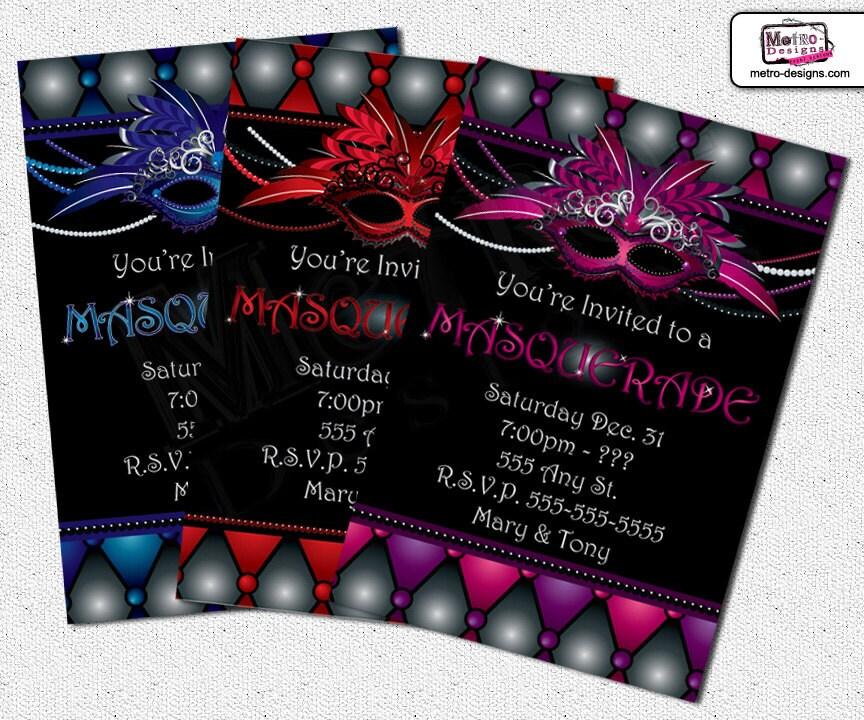 Masquerade Invitations Masquerade Invitation Sweet 16