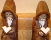 Monk Wooden Book Ends