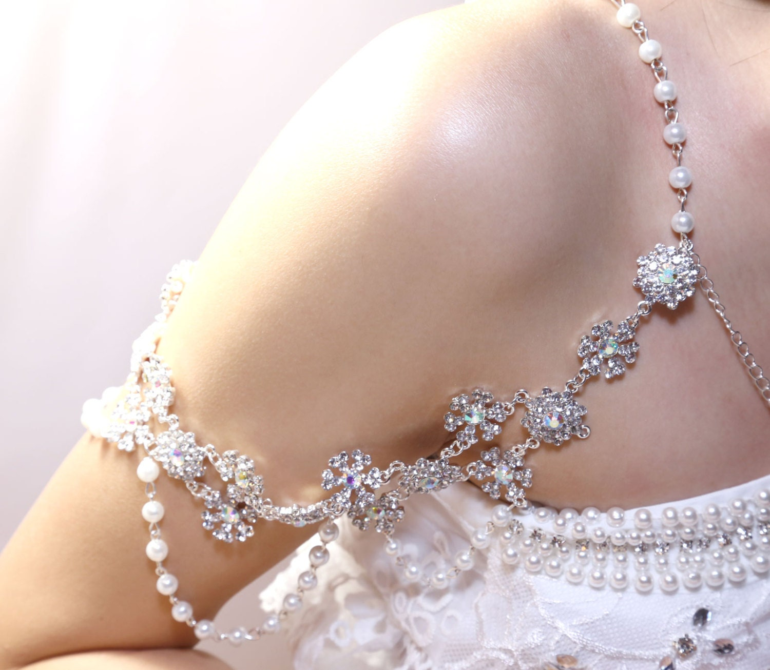 bridal wedding bra strap halter jewelry rhinestone by