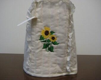 Blender cover Sunflower Embroidered Design