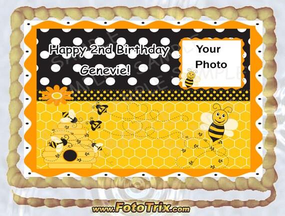 bumble bee sheet cake