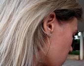 Elegant Gold Earrings - 14k Gold Filled Earrings - Metal Curves Long Modern Earrings - Gold Earrings - Modern Jewelry - Everyday Earrings