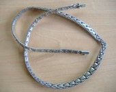 Italy Sterling Silver Fancy Woven Link Riccio Necklace Unique Style