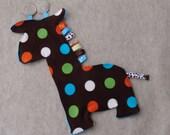 Giraffe Tag Blanket - READY TO SHIP