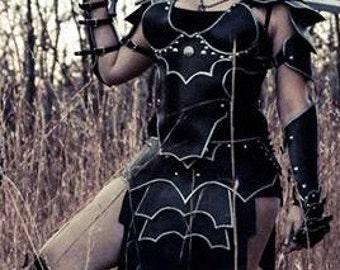 Leather Armor Ladies Bordered Gothic Set