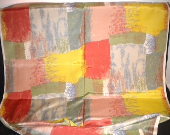 REMNANT Deadstock Vintage Fabric 1950s Multicolor Abstract Colorblock Unused Fabric Rayon Mid Century Eames Upholstery Drapery 2.5 yds +