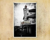 Portland Oregon Photography Bagdad Theater--Fine Art Black and White Photography 8x12