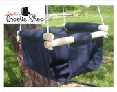 Portable Outdoor Indoor Fabric Baby Infant Tree Swing to Toddler Swing - Baby Toy in Navy Blue